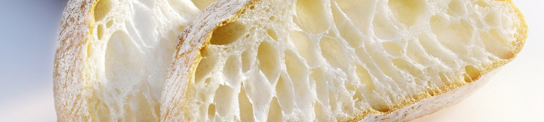 Microstructure of bread roll crumb in light and